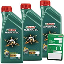 3x 1l = 3litros Castrol Magnatec 5W de 40C3Motor de aceite motores de aceite Incluye Castrol ölwechsel de colgante; Especificaciones/freigaben: API SN/CF; ACEA C3; MB compartido de 229.31; VW 50200/50500; BMW Longlife–04; R