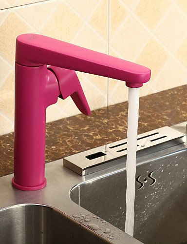 AI LI WEI Bathroom Furniture - Contemporary Single Handle Kitchen Faucet - Painting Finish
