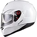 Black Optimus SV Motorrad Roller Klapphelm L Gloss White