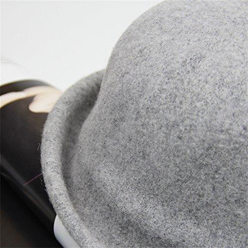 Automne et hiver femme élégante mode rétro chapeau belle fleurs chaude et coupe-vent ( couleur : N ° 5 ) #1