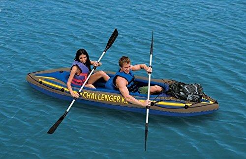 68306 Canoa gonfiabile INTEX per due persone Challenger K2 Kayak 351x76 cm