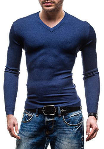 BOLF - Pull - Tricot – NEW MEN 8001A- Homme Bleu foncé