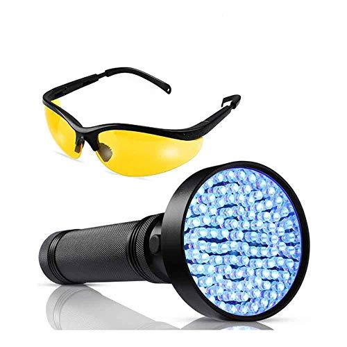 Youyababay UV con 100 LED, Detector de orina para Mascotas, Perros y Gatos, Lámpara UV para Inspección de Agentes Fluorescentes (batería no incluida)