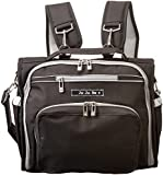 Ju-Ju-Be Classic Collection B.F.F Convertible Nappy Changing Bag/ Rucksack/ Messenger/ Tote (Black/Silver)