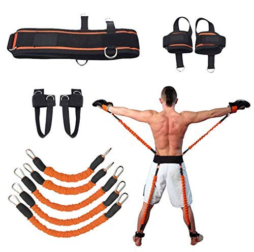 YNXing Boxen Widerstand Bands 200 lbs Krafttraining Set Für Fußball Basketball Volleyball Taekwondo Muay Thai Fitness (Orange)
