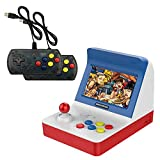 AOLVO Arcade-Konsole, Mini Srcade Game 4,3-Zoll-Retro-Arcade-Konsole Klassische Handheld-Videospiele Kleine Spielautomaten mit 2 Controllern - Build in 3000 Classic Games für Kinder Erwachsene