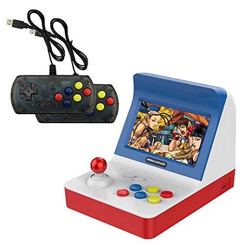 AOLVO Arcade-Konsole, Mini Srcade Game 4,3-Zoll-Retro-Arcade-Konsole Klassische Handheld-Videospiele Kleine Spielautomaten mit 2 Controllern - Build in 3000 Classic Games für Kinder Erwachsene (Game Watch And Nintendo)