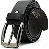 Ivaan 100% Genuine Wrinkle Free Pure Leather Branded Formal Casual Reversible Belt For Men (Pure Leather,Black)
