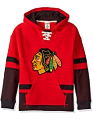 "Chicago Blackhawks CCM NHL ""Hit the Boards"" Youth Jeunes Vintage Jersey Maillot SweatShirt Chemise"