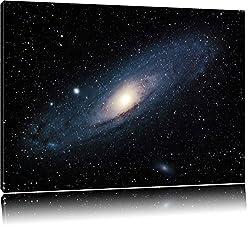 Sonnen im Weltall Format: 120x80 auf Leinwand, XXL riesige Bilder fertig gerahmt mit Keilrahmen, Kunstdruck auf Wandbild mit Rahmen, günstiger als Gemälde oder Ölbild, kein Poster oder Plakat