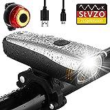 Antimi Fahrradlicht Led Set, LED Fahrradbeleuchtung mit 2 Licht-Modi, StVZO-Zulassung, Frontlicht und Rücklicht/Rotlicht, IPX5 Regen- und stoßfest Fahrrad Licht 2600mAh