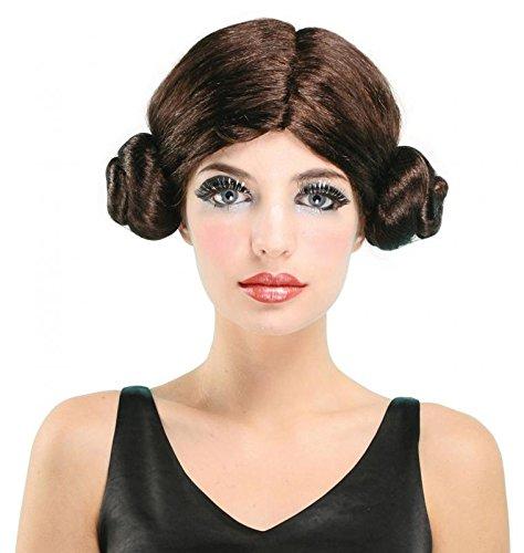 Star Wars Space Princess Leia Leah Wig Fancy Dress (peluca)