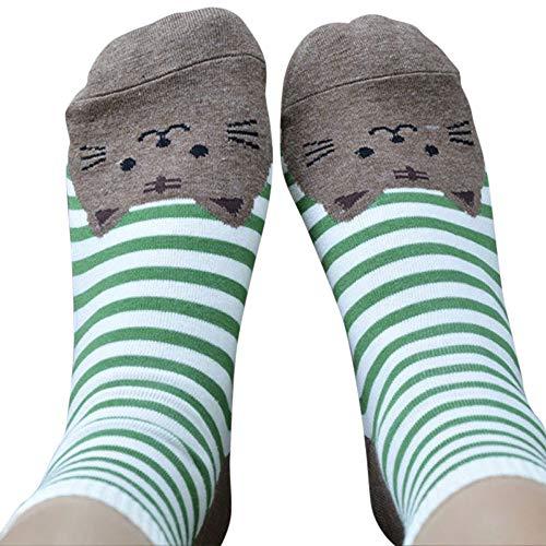 Socken, Cyber Monday Specials Hohe Qualität Weihnachten 3D Tiere Striped Cartoon Socken Frauen Katze Footprints Cotton Socken Boden