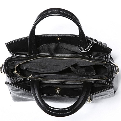 Frauen Mode Handtaschen Tote-Geldbeutel-Schulter-Beutel Black
