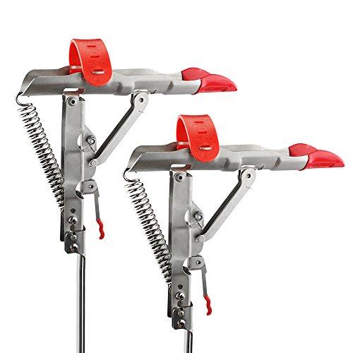 Shackcom Updated 1 Paar Angelrutenhalter Rutenhalter Angelrute mit Automatischer Ruten Halterung Edelstahl Einstellbar Ständer Rutenablage zum Angeln -