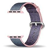 Apple Watch Armband 38mm, ZRO Premium Nylon Gewebte Smart Watch Ersatz Uhrenarmband mit verstellbarer Schnalle Für neue Apple iWatch Serie 2/ Serie 1
