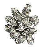 BEN-AMUN  -    versilbert Marquiseschliff   silber Cristal