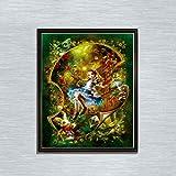 Leezeshaw 5D DIY Diamant Malen nach Zahlen Kits berühmte Strass-Stickerei Gemälde Bilder für Home Decor – Alice (30 x 40 cm) Frameless Alice
