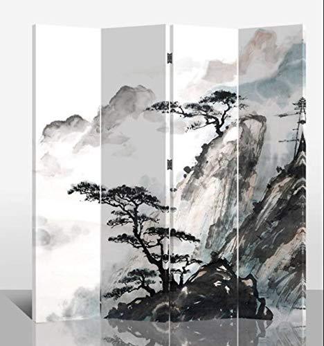 Fine Asianliving Raumteiler Paravent Sichtschutz Trennwand Faltbar Raumtrenner Spanische Wand Leinwand Artprint Canvas Doppelseitig Bedruckte Leinwand- 203-101