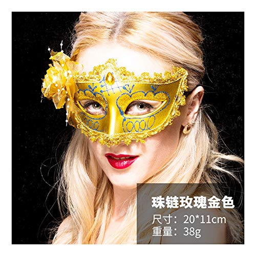 SCLMJ Halloween Maske Mode Halbe Gesicht Blume Maske Kostüm Party, Ich (Ich Halloween Kostüm Party)
