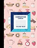Composition Notebook: College Ruled: Composition Notebook For Boys, Journal Composition Notebook, Small Journal Notebook, Cute Baking Cover, 7.44
