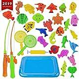 KidsHobby Magnete Angelspiel Wasserspiel Badewannenspielzeug Lernspiel für...