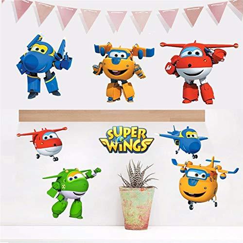 er Wings Verformung Flugzeug Roboter Baby Home Decoration Anime Poster Wandtattoo Kunst Spiel Wand Papier Kinder Kindergarten 60X45 Cm ()