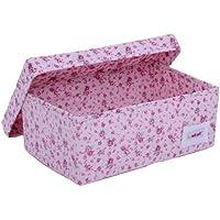 Preisvergleich für Minene 1510 Aufbewahrungsbox, klein, rosa mit Blumen