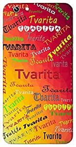 Tvarita (Goddess Durga) Name & Sign Printed All over customize & Personalized!! Protective back cover for your Smart Phone : Moto G-4