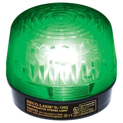 Seco-Larm Enforcer Xenon Strobe Light, 24VDC, Green Lens (SL-126-A24Q/G) by Seco-Larm Strobe Green Lens