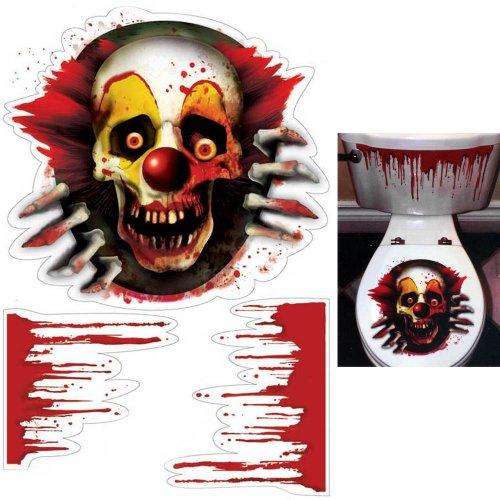 Amscan International 670176 effrayant Carnaval en vinyle Toilettes Grabber Lot pour fête d'anniversaire, 61 x 30 cm