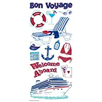 Sandylion Cruise Icon with Glitter Sticker, 5.5 by 12-Inch, Clear