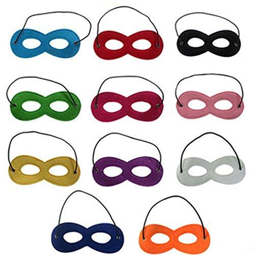 knowing 11Stück Superhero Masken,Filz Masken Augen Masken,Für Ihre Maskerade, Geburtstagsfeier, Weihnachten, Halloween, Dress-up,Mehrfarbig