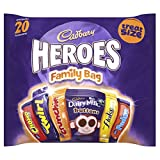Cadbury Family Heroes Treat Size Chocolate Packs, 278 g