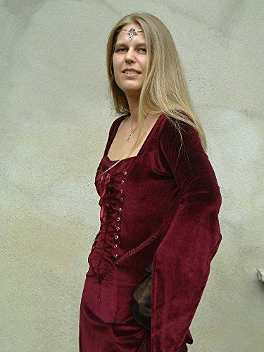 Dark Dreams Gothic Mittelalter Schmuck Diadem / Tiara Rosenkreuz, Farbe:rot - 3