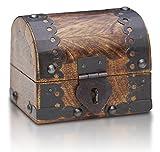 Bauern-kasse Schatz-Truhe Schatz-Kiste aus Holz (V2 Klein S)