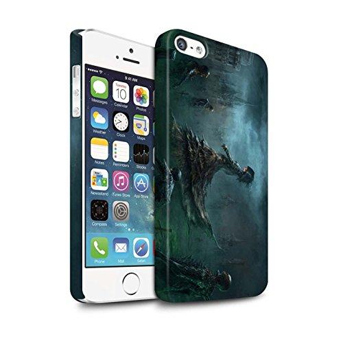 Offiziell Chris Cold Hülle / Matte Snap-On Case für Apple iPhone SE / Hades/Phantom Muster / Unterwelt Kollektion Banshee/Hexe-Königin