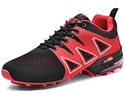 GNEDIAE Herren KR-5 Low-top Trailrunning-Schuhe,Fitnessschuhe Rot 42 EU
