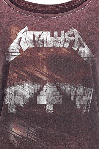 Metallica MOP Vintage Cover Maglia Donna Rosso Scuro Rosso scuro