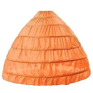 BEAUTELICATE Sottogonna Petticoat Donna Gonna Lunga 6 Cerchio Crinolina Rockabilly Vintage Sottoveste per Vestito Abito da Sposa Anni 50 Bianca Nera 1 spesavip