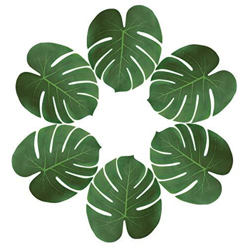 Sunm boutique tischrockhalter Großer Künstlicher Tropical Palmblättern Tisch Dekoration Zubehör Party Strand Thema Dekorationen Pack of 48 Palm Leaves (Diy Snow Globes)