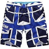 CHENGYANG Uomo Boardshorts Della Spiaggia Uomini Bandiera UK Pantaloncini Corti con Coulisse Regolabile