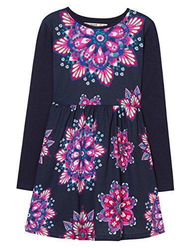 Desigual Mädchen Kleid Vest_AITANE, Blau (Navy 5000), 116 (Herstellergröße: 5/6)