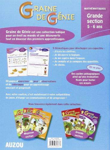 Graine de Génie Mathematiques Maternelle Grande Section 5-6 Ans