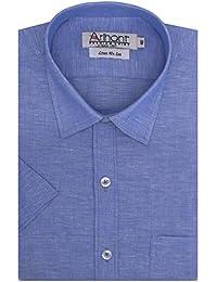 Arihant Men's Half Sleeves Plain/Solid Cotton Regular Fit Formal Shirt