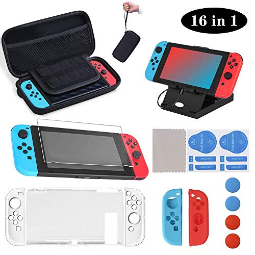 SUPERSUN 16 Piezas Funda para Nintendo Switch