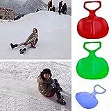 Forfar Conseil de ski en plastique Sports de plein air pour enfants / adultes hiver Thicken Plastique Herbe Tapis de ski Sled Conseil neige sur luge Snowboard