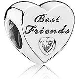 ORIGINAL PANDORA ELEMENT BEADS 791727 CZ BEST FRIENDS HERZ CHARM NEU SCHMUCK ALE