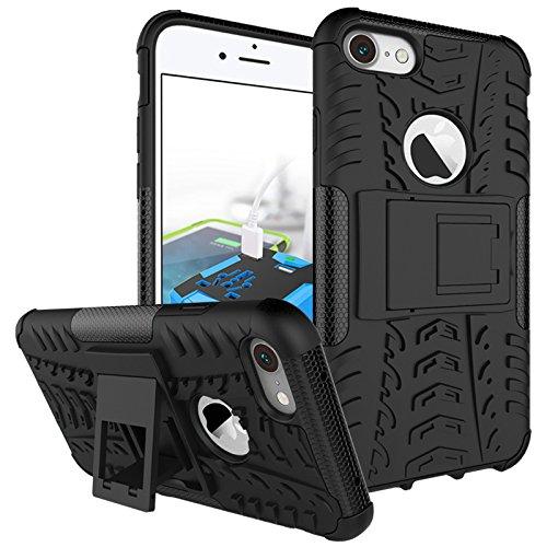 BCIT iPhone 7 Cover - Alta qualità Doppio Strato ibrido Cellulari Case Custodia protettivo Per iPhone 7 - Blu Nero