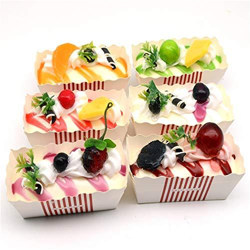 Wokee 6PC Spielzeug Stressabbau Duftenden Delicious Kuchen Creme duftenden langsam steigende Lustige Gadgets